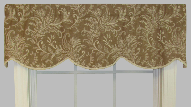 Beige window valance l polyester valance in ecru palm tree valance in ivory croscill chapel - Boutique free valence ...