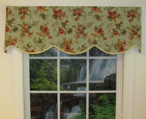 Cornice Valance (not lined) - Parson's Creek - CLEARANCE