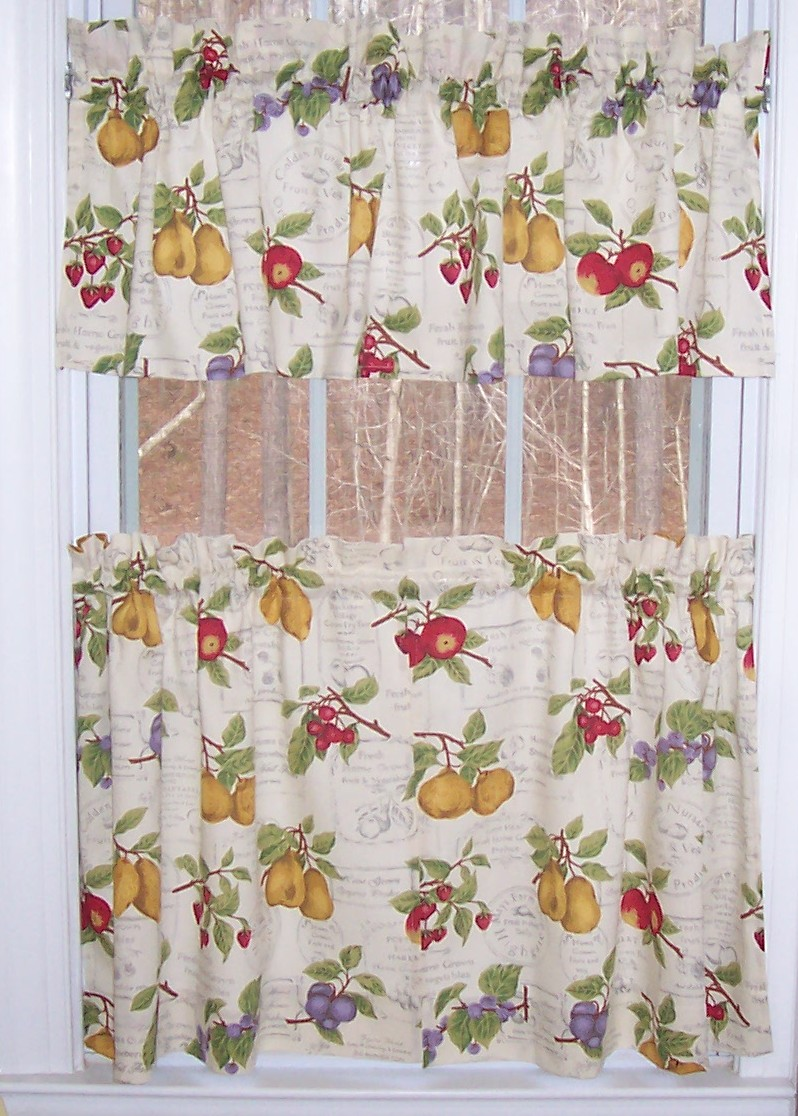 Country Fruit Kitchen Curtains