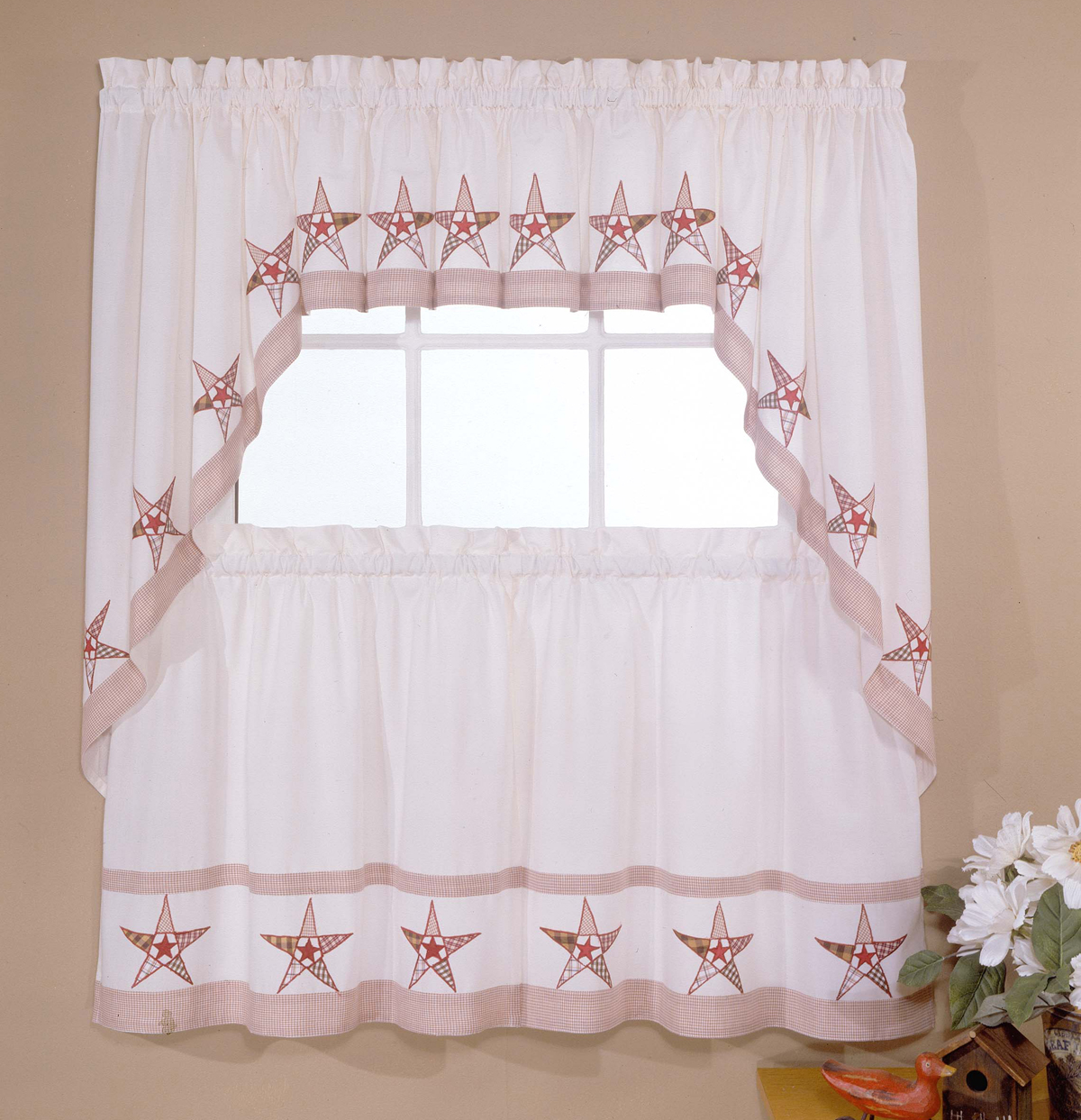 country star kitchen curtains country kitchen curtain set 6202