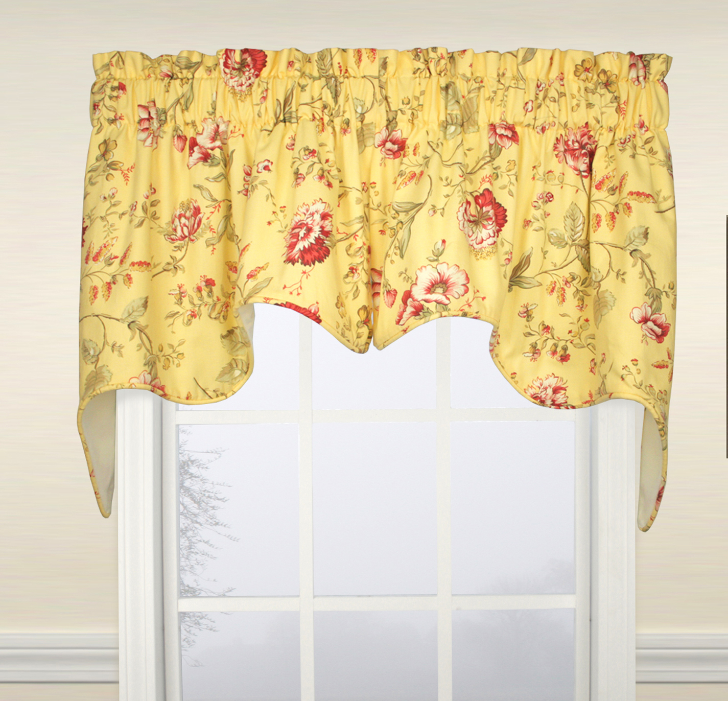 free geo yellow x long over orders leaf curtain on julianna wide window overstock valance home garden shipping driftaway curtains product