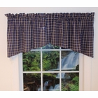 Crescent Valance - Nantucket  Navy Plaid  - Closing Out
