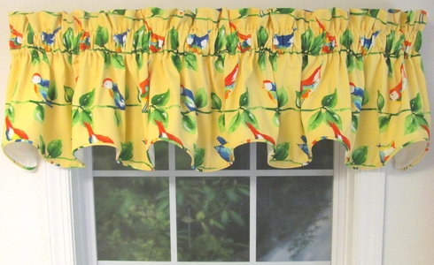 Curious Bird Corded Scalloped Valance