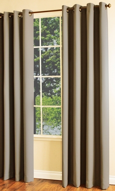 Darcy Insulated Room Darkening Thermal Grommet Curtain Panel - Thermaplus