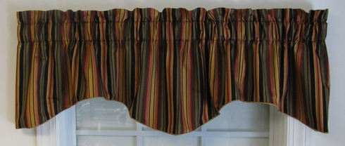 Devon Stripe Scallop Valance - Black - SOLD OUT