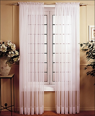 Voile Window Curtain Panel    -  CLEARANCE