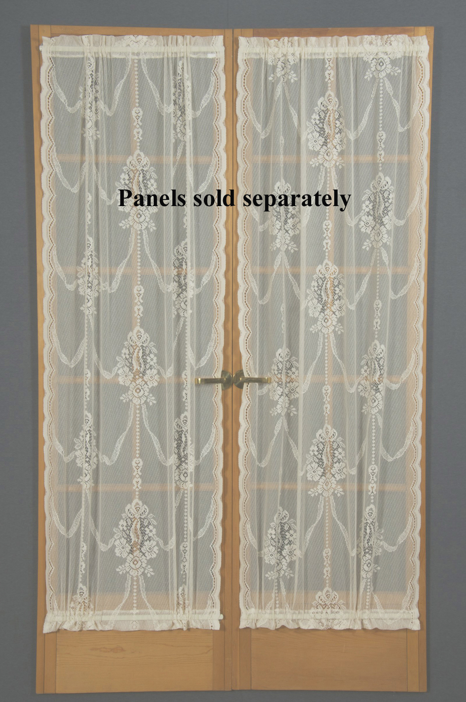 Ordinaire American Balmore Lace Door Panel. Zoom