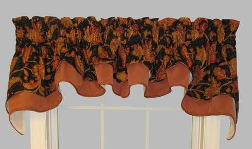 Double Cambridge Valance - Gypsy Black Swan