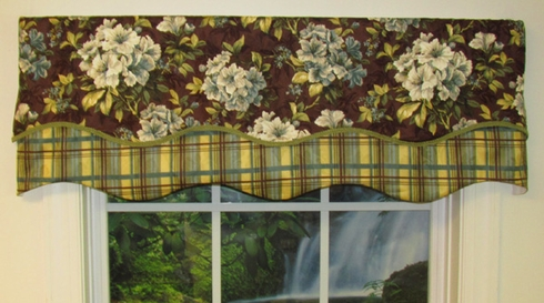 Double Scallop Valance - Darcey/Denville Expresso - SOLD OUT
