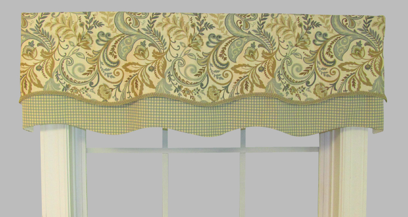 Lovely Double Scallop Valance Findlay Seagrass/Colburn Capri NR56