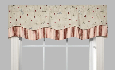 Double Scallop Valance - Fly Away