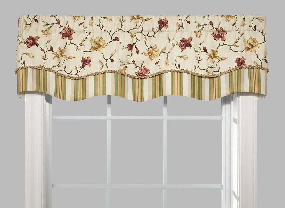 Striped valances for windows waverly kitchen curtains for Valance curtains for kitchen