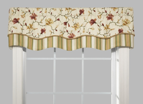 Double Scallop Valance - Winnie Parchment - Close Out