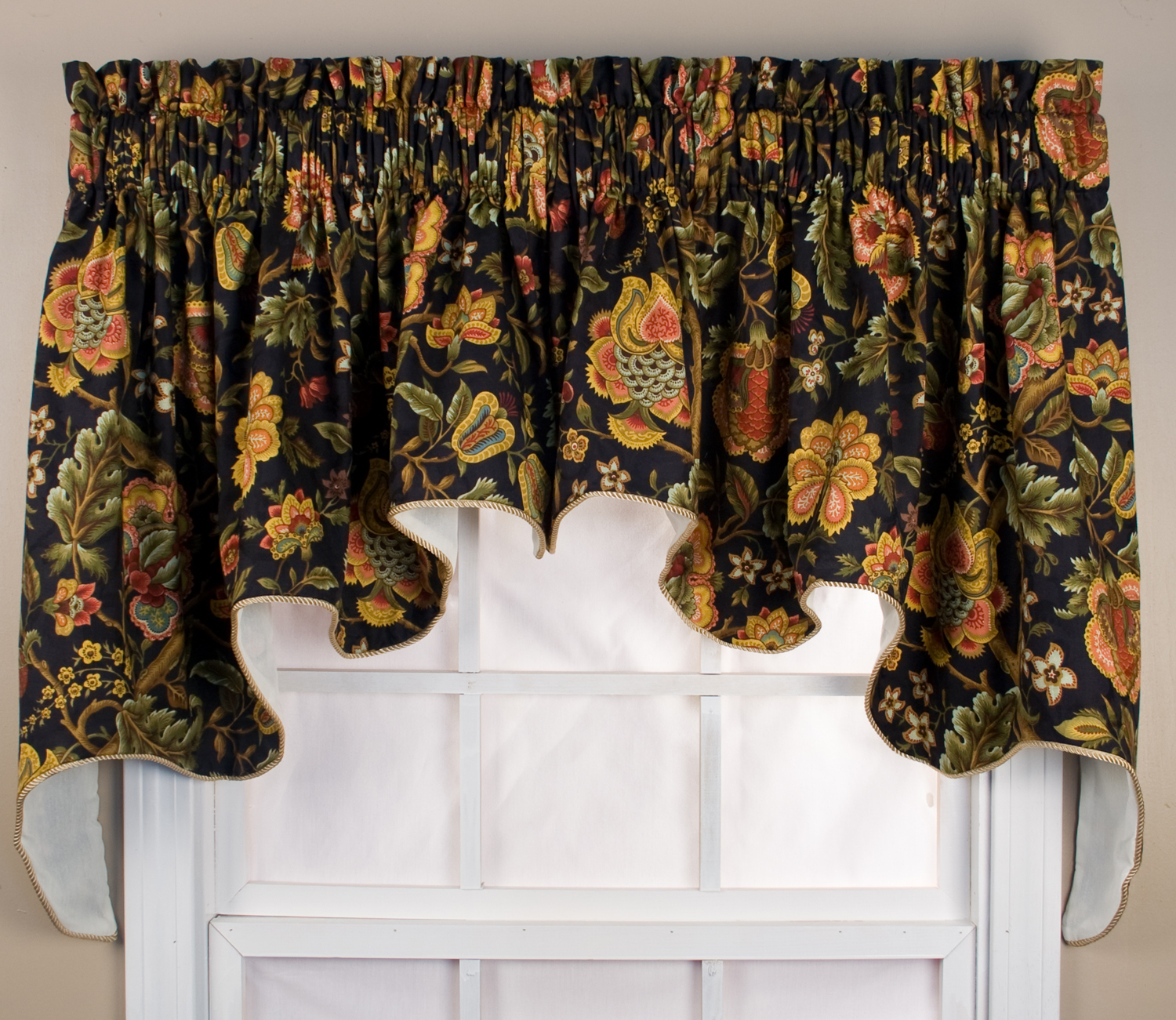 Swag curtains solids patterns - Boutique free valence ...