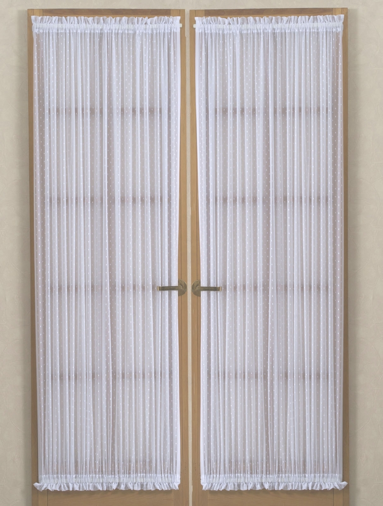 Etoile Jacquard Rachel Lace Door Panels In White Beige