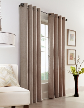 Faux Jute Grommet Curtain Panel - Couture