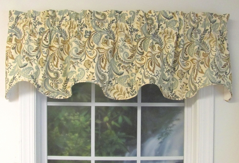 Findlay Seaglass Corded Scalloped Valance