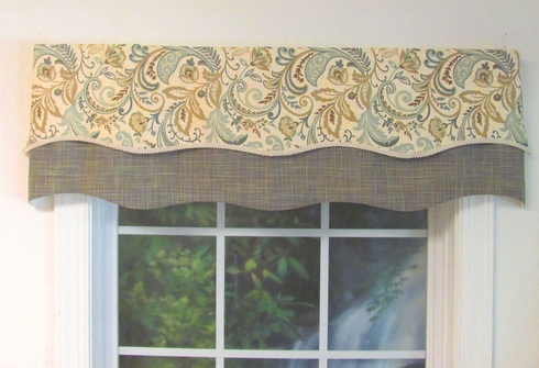 Findlay Seaglass Double Scalloped Valance