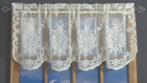 Sterling Fiona Scottish Lace Flat Valance