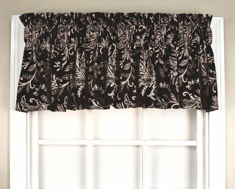 Floating Leaves Tailored Valance
