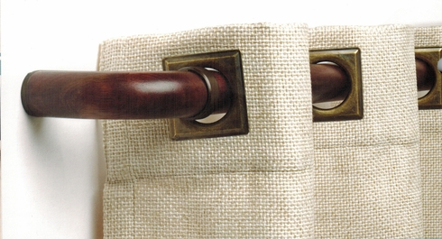 """Curved French Return Elbows (pair) for 1-3/8""""  Diameter Wood Rod- Select"""