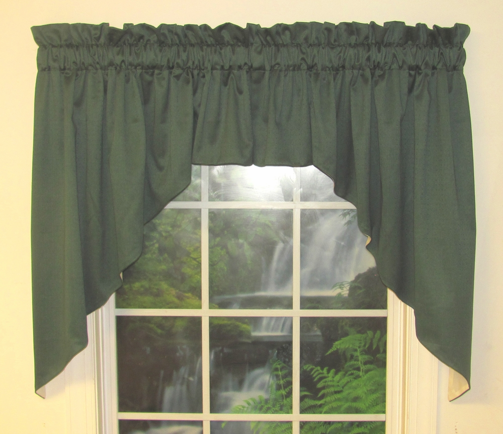 Galaxy 39 Inch Long Lined 2 Pc Swag Valance Close Out