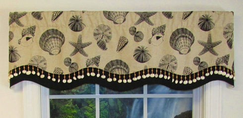 Glory Valance - Linen Shell Black - CLose Out