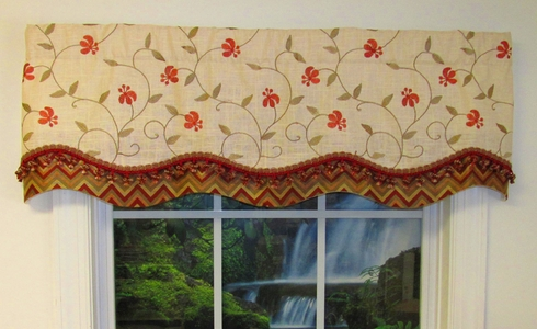 Glory Valance - Red Blossom - CLEARANCE