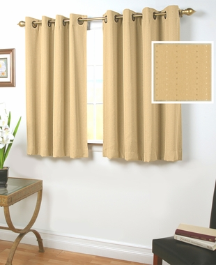 Grand Pointe Room Darkening Insulated Grommet Curtain with Wand