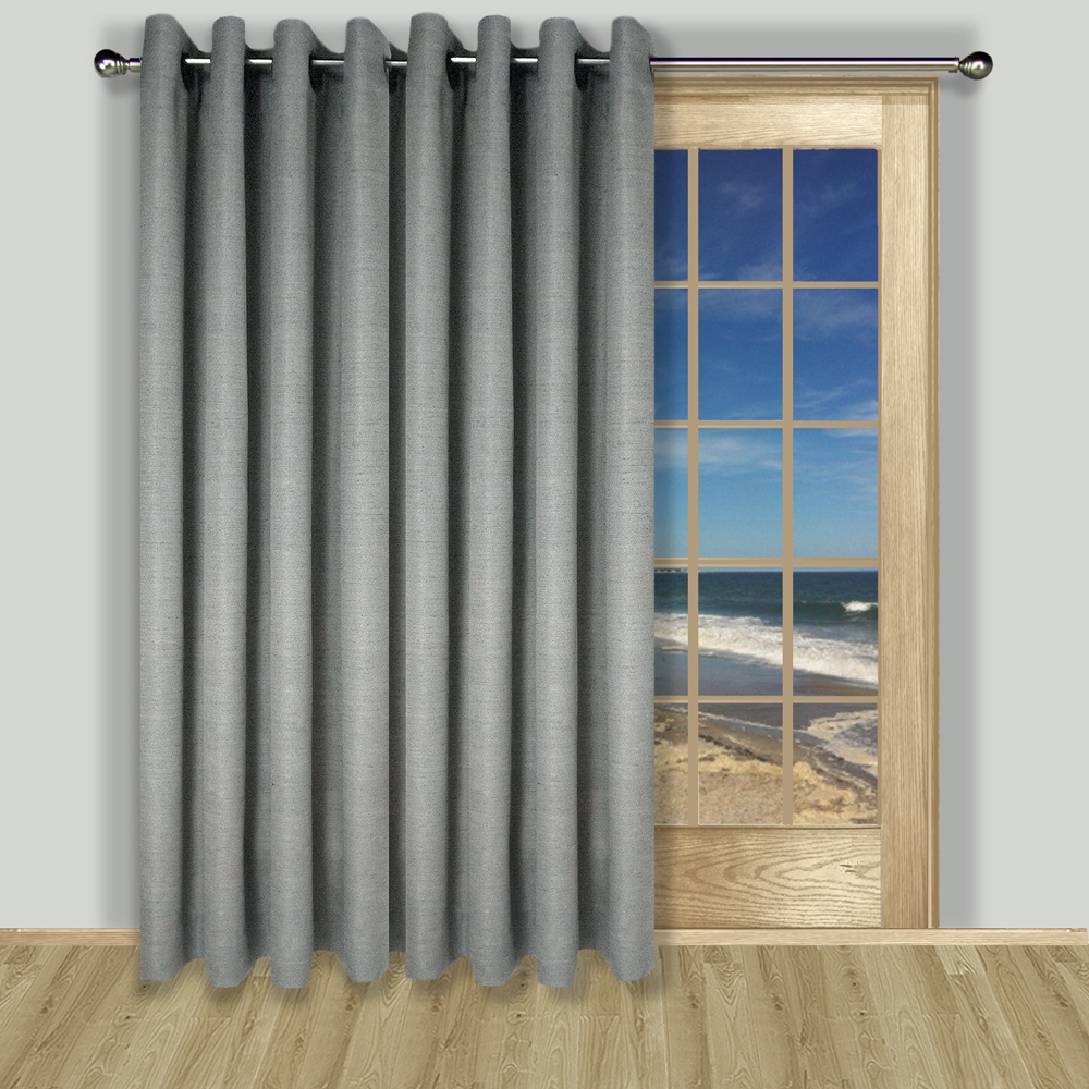 Charming Grasscloth Lined Grommet Patio Panel. Zoom