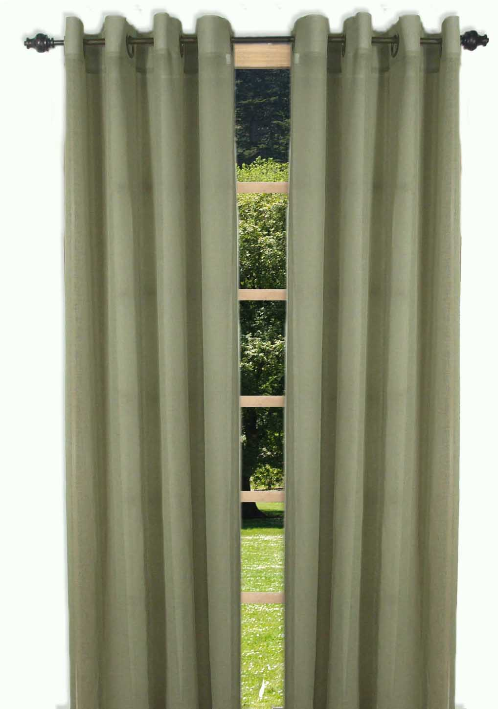 Bal harbour semi sheer grommet curtain panel for Grommet curtains with sheers