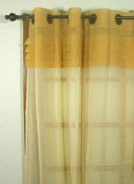 Geneva Semi Sheer Grommet Curtain Panel