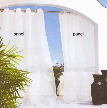 Escape Voile Indoor/Outdoor (treated) Grommet Panel