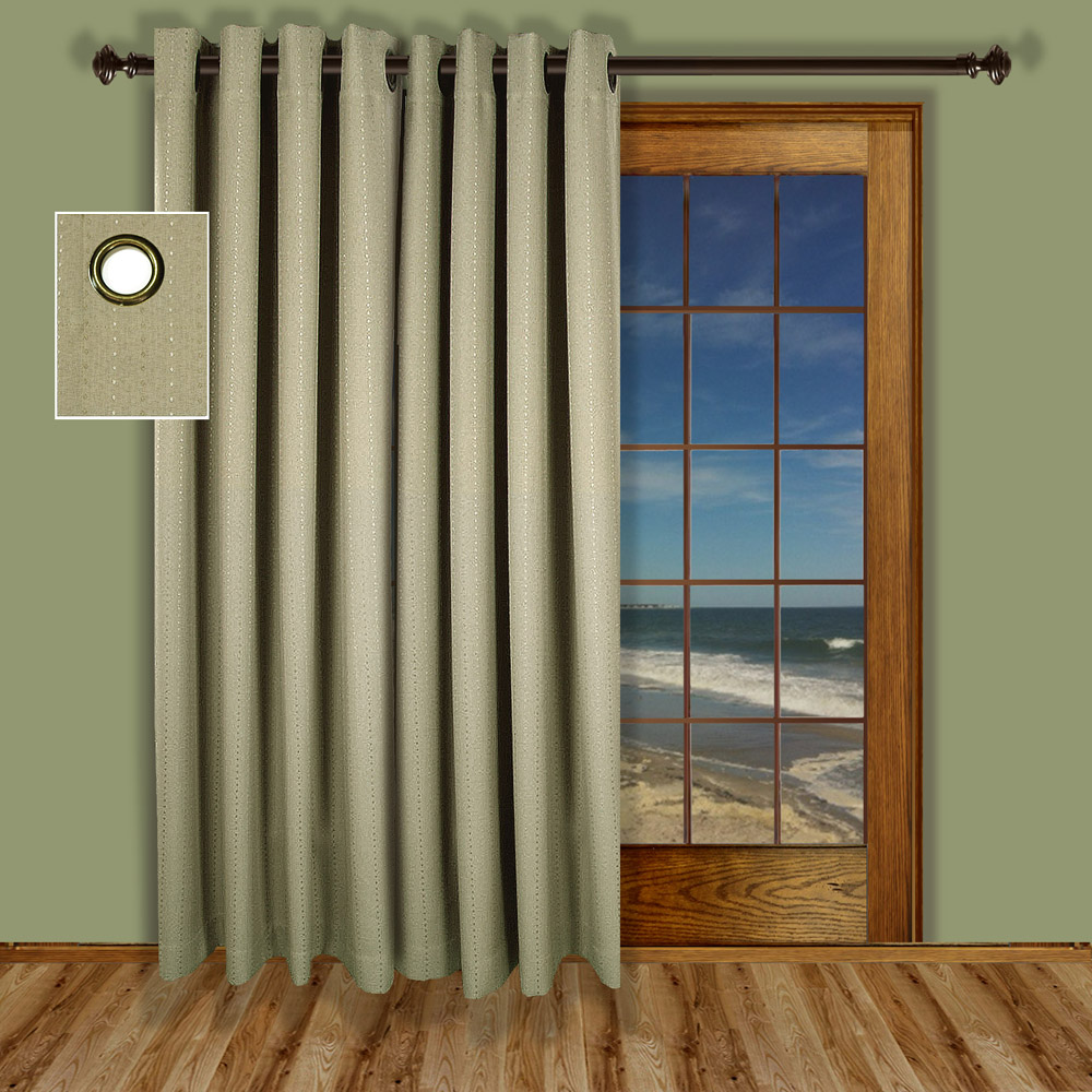 Curtain For Balcony: Grand Pointe -Grommet Patio Panel