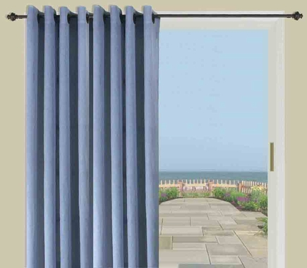Bal Harbour Semi Sheer Grommet Patio Panel with Wand