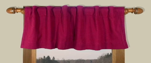 Homespun Double Lined Valance