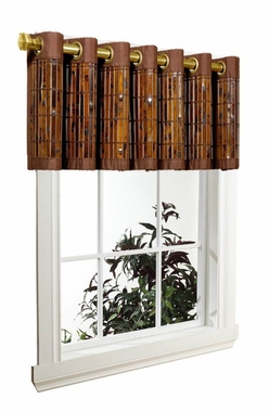 Tortoise Shell Bamboo Grommet Valance - SOLD OUT