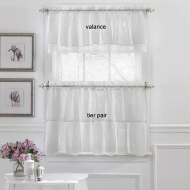 Gypsy Layered Ruffled Tier Curtains And Valance