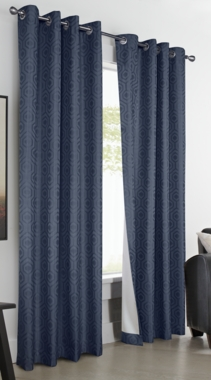 Highgate Insulated Geometric Grommet Curtain Panel - Thermalogic