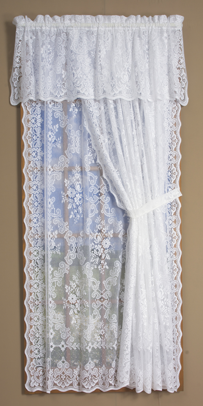 Highland Lace Curtain Panel 60 Quot W X 63 Quot L Ivory