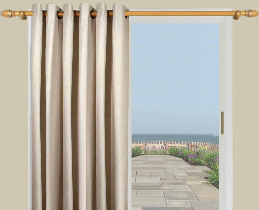 Homespun Linen Lined Amp Innerlined Grommet Patio Panel With