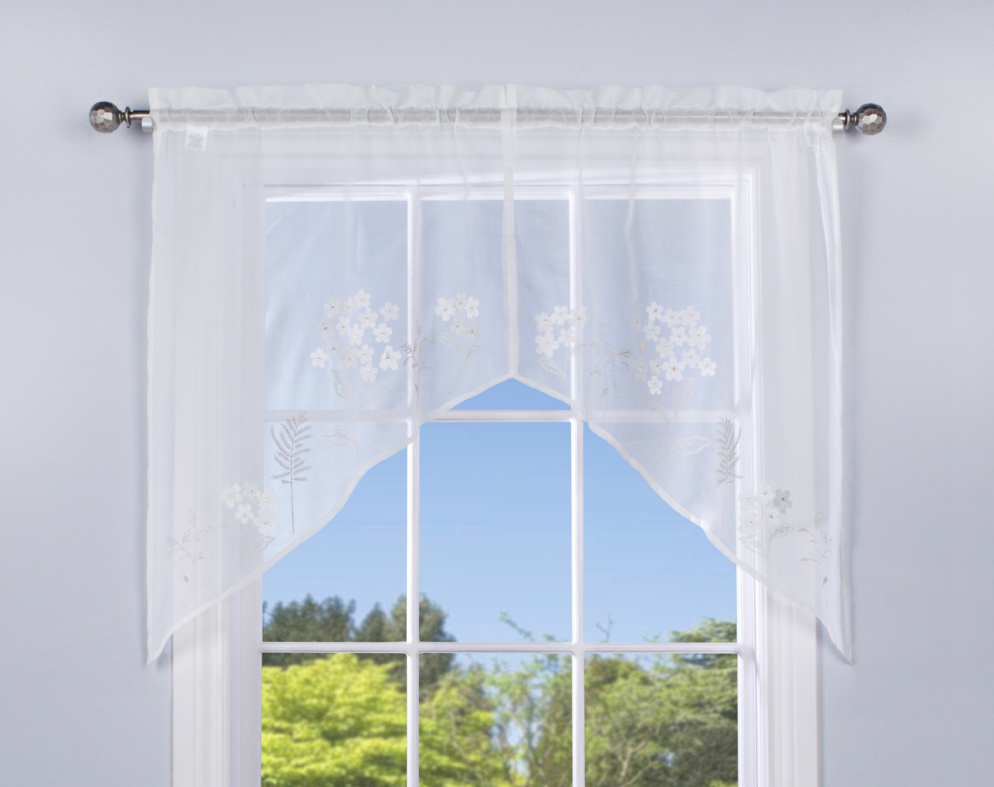 curtains sheer with curtain embroidery barn pottery full sunflower cafe white size half inspiring image
