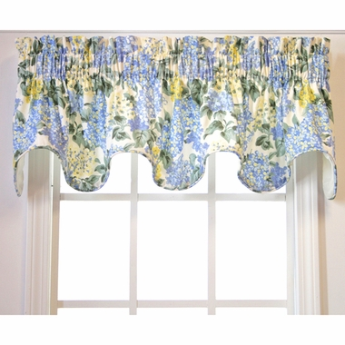 Hydrangea Lined Scallop Valance