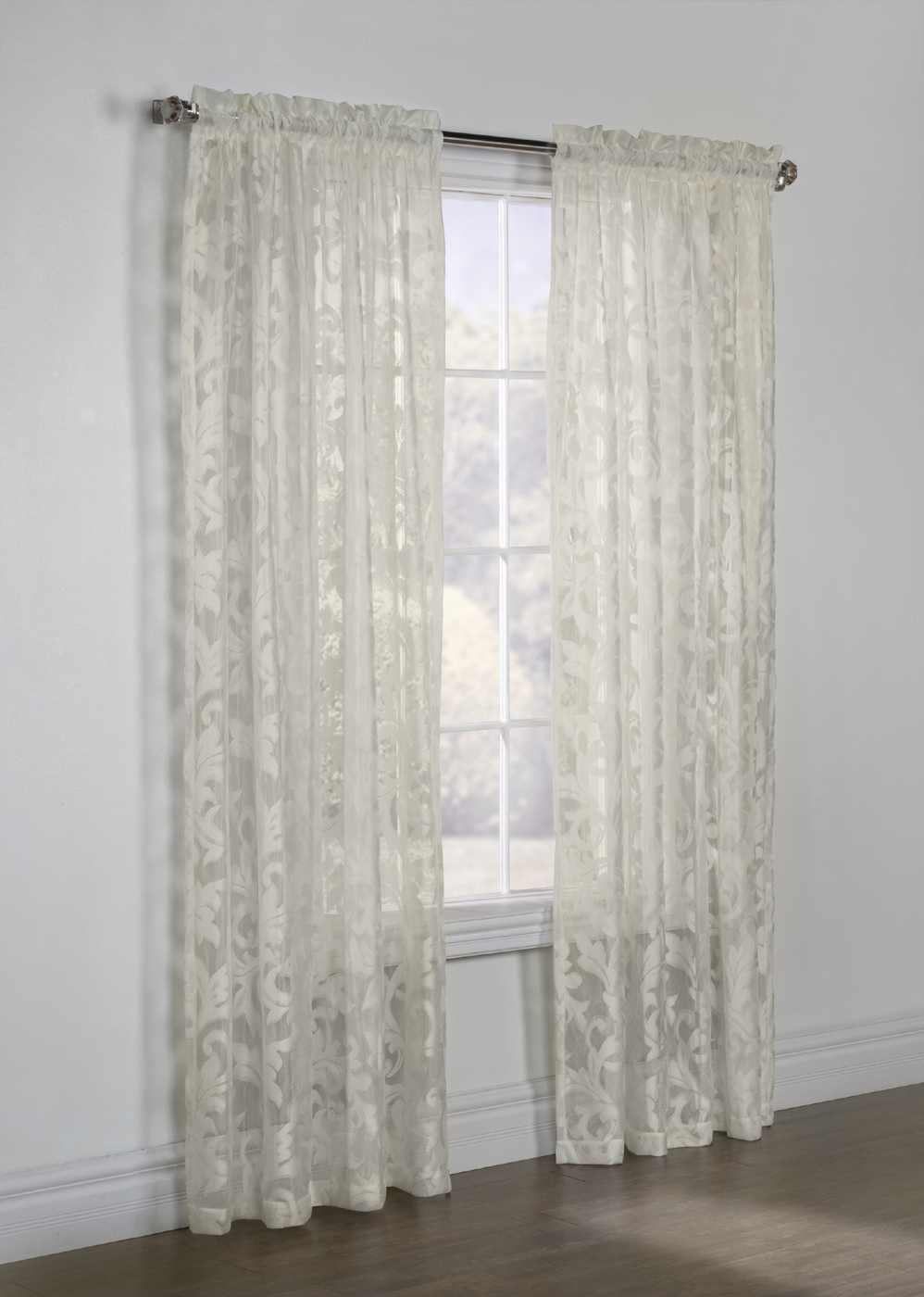 Jacqueline Boucle Lace Rod Pocket Panel Habitat