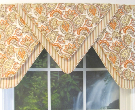Kimberly Apricot Double Delta Valance -Special Pricing!