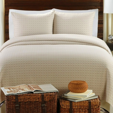Lanai Matelasse Coverlet Set - Taupe - Sold Out