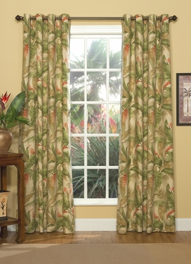"La Selva Natural 84""L Grommet Top Curtain Pair - Thomasville"