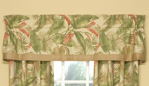 Tailored Valance with Band - LaSelva Natural by Thomasville
