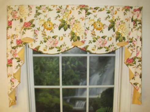 Lily Yellow Regal Valance