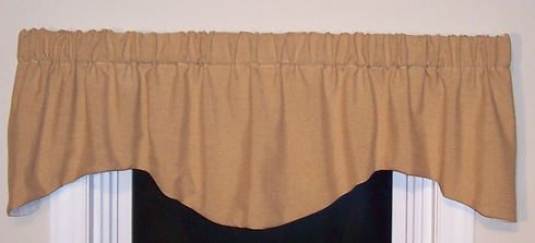 Lined M Shaped Valance - Claiborne Muslin (CLEARANCE)